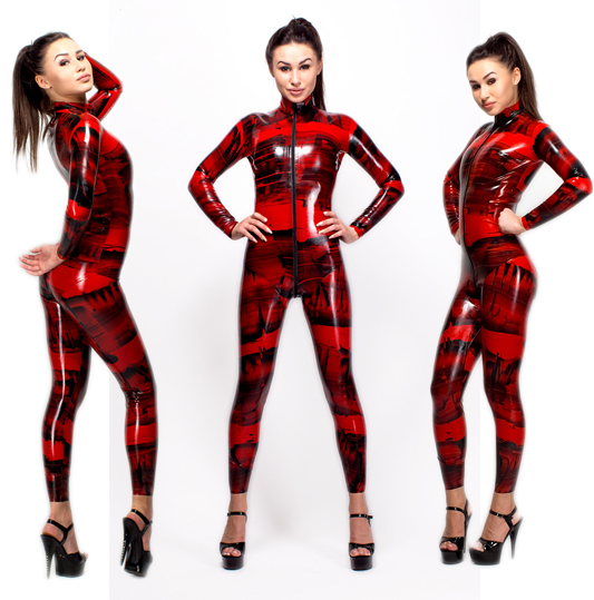 futurefetish latex - New latex catsuit available in our shop. It is made of handmade multicolored latex.